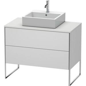 Vanity Unit For Console Floorstanding, White Satin Matte (lacquer)