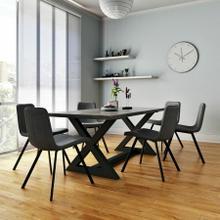 See Details - Zax/Buren 7pc Dining Set, Black/Vintage Grey