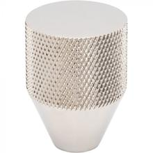 View Product - Beliza Conical Knurled Knob 1 Inch Polished Nickel Polished Nickel