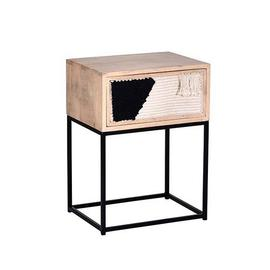 See Details - Nightstand/Side Table - Jute/Iron Finish