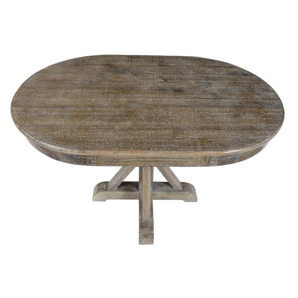 Maxwell Dining Table Lime Wash Brown