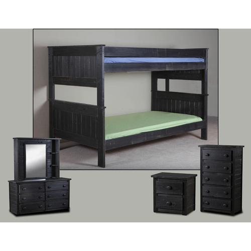 Pine Crafter Furniture - Twin/Twin Stackable Bunk Bed