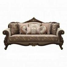 ACME Mehadi Sofa w/8 Pillows - 50690 - Fabric & Walnut