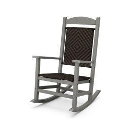 Polywood Furnishings - Presidential Woven Rocking Chair in Slate Grey / Cahaba