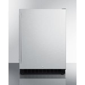 SummitBuilt-in Undercounter ADA Compliant All-refrigerator With Stainless Steel Exterior, Door Storage, Lock, and Digital Controls