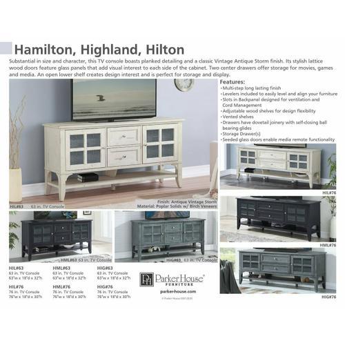 HILTON 63 in. TV Console