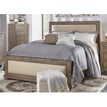 6/6 King Upholstered Headboard - Weathered Gray Finish