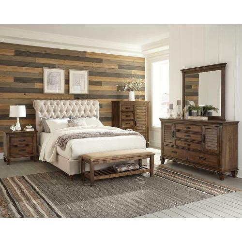 Devon Transitional Beige California King Bed