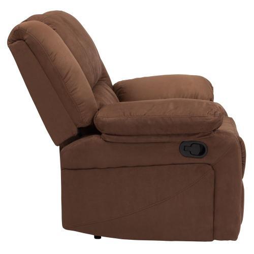 Alamont Furniture - Chocolate Brown Microfiber Recliner