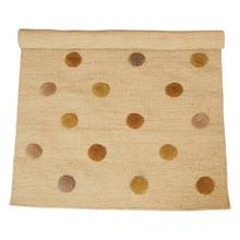 Product Image - 4' x 6' Woven Wool Blend Rug w/ Tufted Multi Color Dots, Cream Color