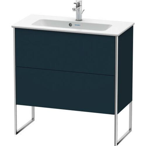 Vanity Unit Floorstanding Compact, Night Blue Satin Matte (lacquer)