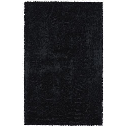 Luxe Shag Ebony Machine Woven Rugs