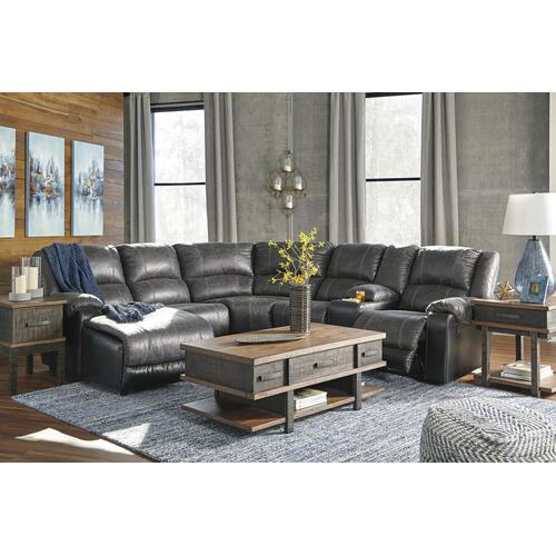 Nantahala Slate 6 Piece Reclining Sectional