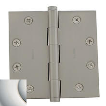 Polished Nickel with Lifetime Finish Square Corner Hinge