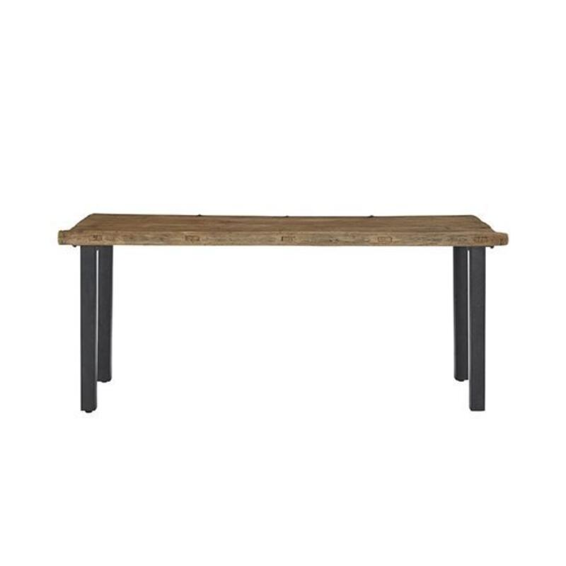 Reclaimed Door Console Table - Reclaimed Elm Finish