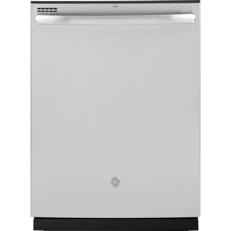 ®Top Control with Plastic Interior Dishwasher with Sanitize Cycle & Dry Boost