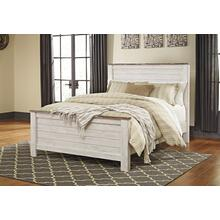 Willowton - Whitewash 3 Piece Bed (Queen)