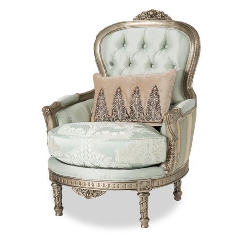 Vivienne Wood Trim Chair Platinum