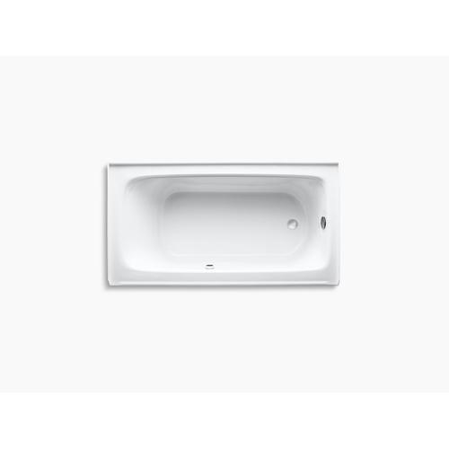 """Biscuit 60"""" X 32"""" Alcove Bath With Bask Heated Surface, Integral Apron, and Right-hand Drain"""