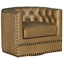 Living Room Lennox Tufted Swivel Chair