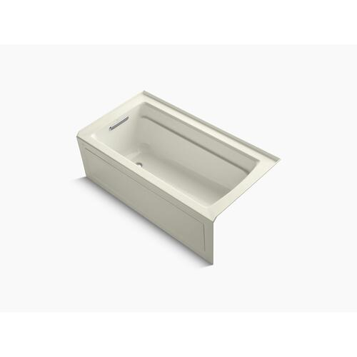 "Biscuit 60"" X 32"" Alcove Bath With Bask Heated Surface, Integral Apron, Integral Flange, and Left-hand Drain"