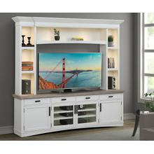 AMERICANA MODERN - COTTON 92 in. TV Console with Hutch and LED Lights