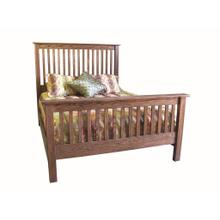 See Details - Forest Designs Mission Queen Slat Bed: 64W x 60H x 93D - Queen