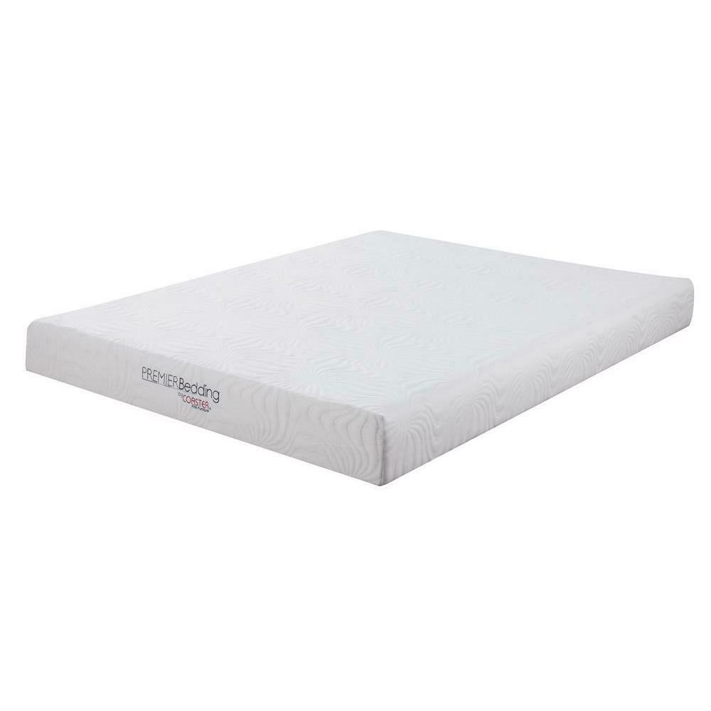 Keegan White 8-inch Twin Memory Foam Mattress