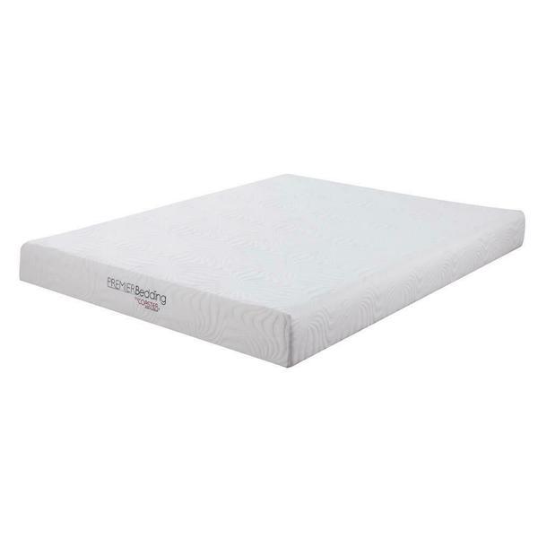 See Details - Keegan White 8-inch Twin Memory Foam Mattress