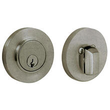 View Product - Distressed Antique Nickel Contemporary Deadbolt