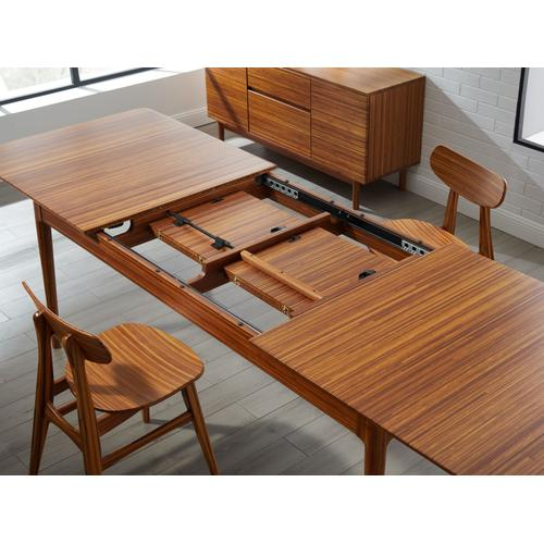 """Greenington Fine Bamboo Furniture - Erikka 110"""" Double-Leaves Extensible Dining Table, Amber"""