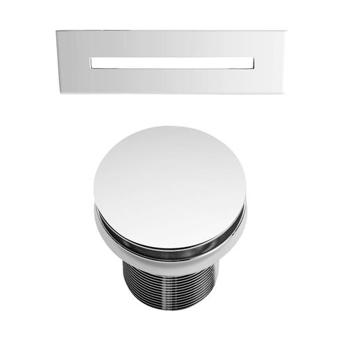 """Vaughn 71"""" Acrylic Tub with Integral Drain - No Drillings / Oil Rubbed Bronze Drain and Overflow"""