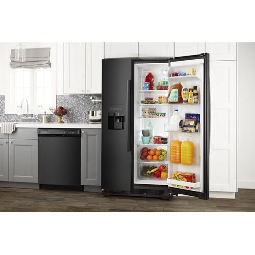 33-inch Side-by-Side Refrigerator with Dual Pad External Ice and Water Dispenser Black