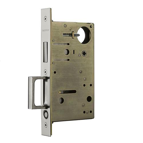 Satin Nickel 8602 Pocket Door Lock with Pull