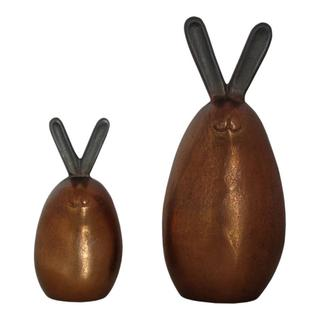 Bronze Bunnies Set Of 2