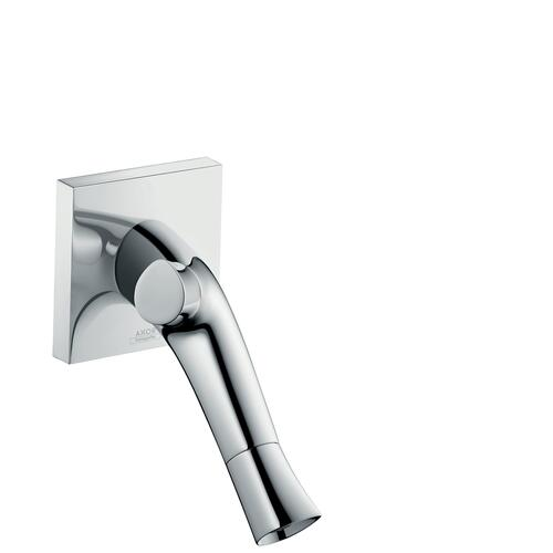 Brushed Nickel 2-handle basin mixer for concealed installation wall-mounted with spout 187 mm