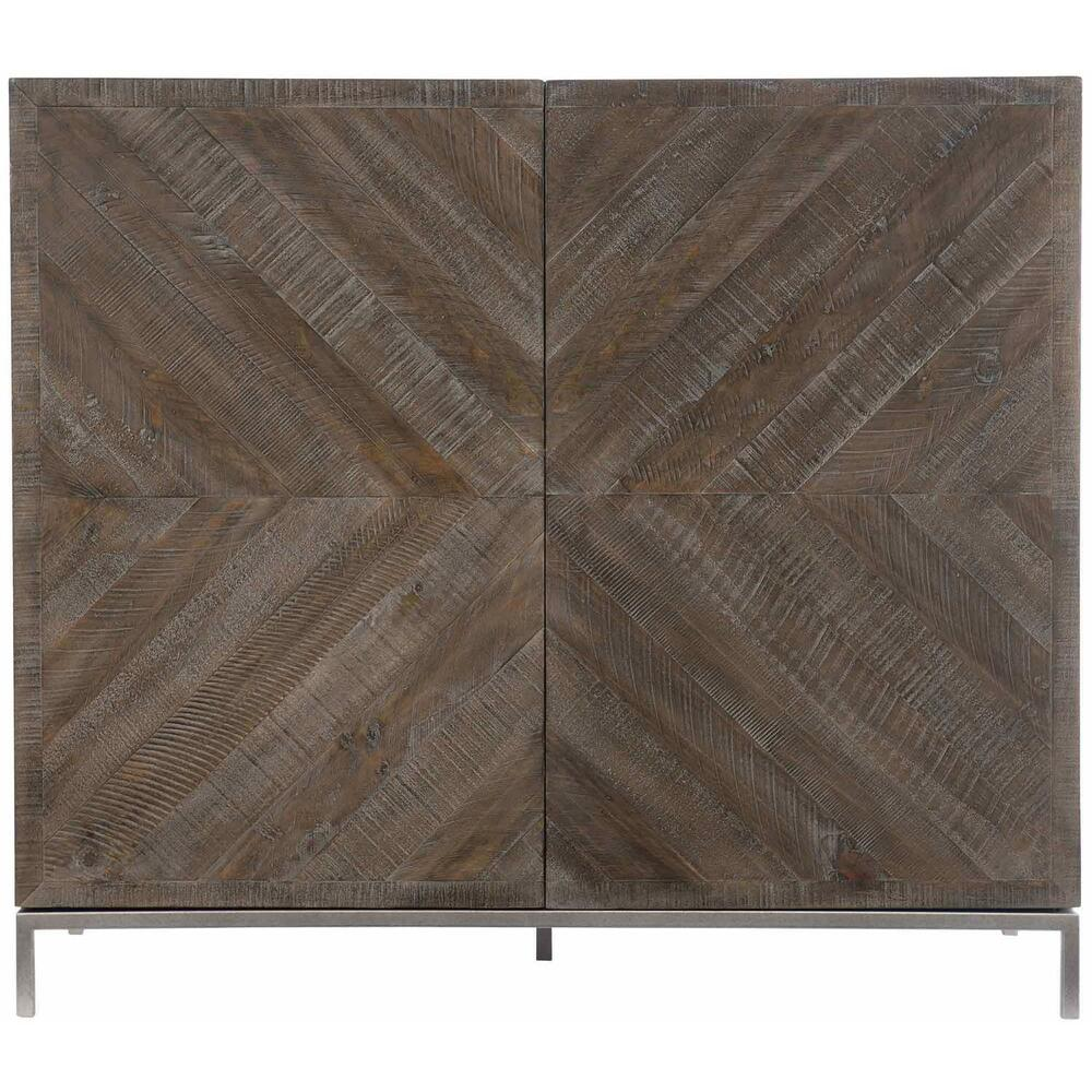 Parkside Bar Cabinet in Sable Brown, Gray Mist