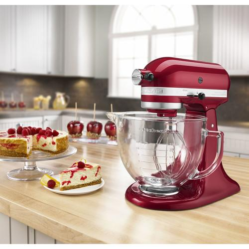 Artisan® Design Series 5 Quart Tilt-Head Stand Mixer with Glass Bowl Grenadine