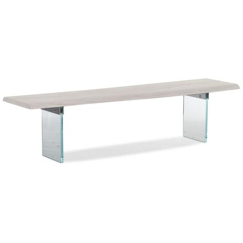 Dining Room Organic Dining Bench with Glass Legs