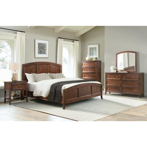 Queen Bed in Cognac