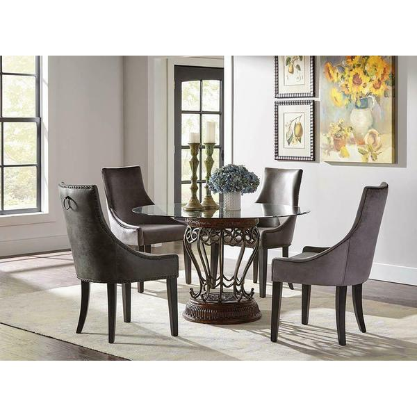 See Details - Phelps Traditional Grey Demi-wing Chair