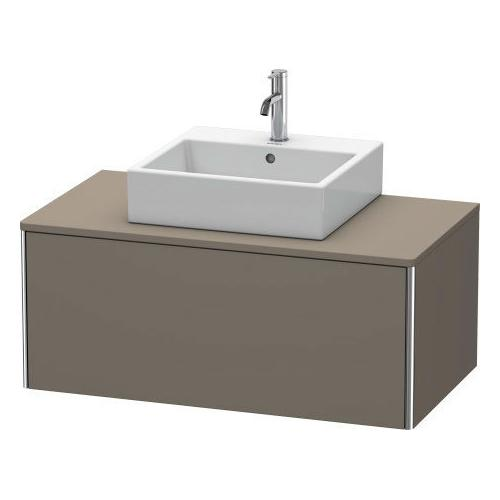 Duravit - Vanity Unit For Console Wall-mounted, Flannel Gray Satin Matte (lacquer)