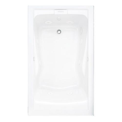 Evolution 60x36 Inch Deep Soak Combo Massage System - Arctic White
