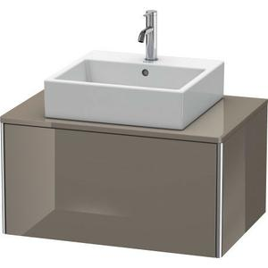 Vanity Unit For Console Wall-mounted, Flannel Gray High Gloss (lacquer)