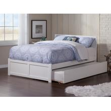 Orlando Full Flat Panel Foot Board with Urban Trundle White