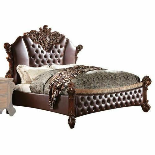 ACME Vendome II Eastern King Bed - 28017EK - PU & Cherry