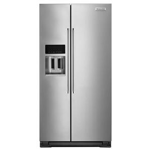 KITCHENAID22.7 Cu. Ft. Counter Depth Side-by-Side Refrigerator with Exterior Ice and Water Monochromatic Stainless Steel