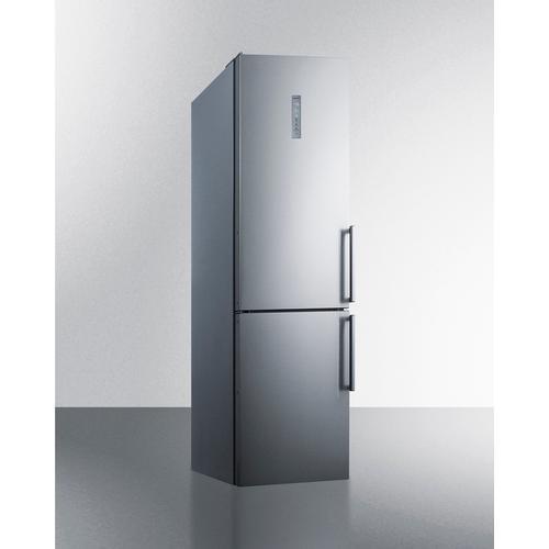 """Summit - 24"""" Wide Built-in Bottom Freezer Refrigerator"""