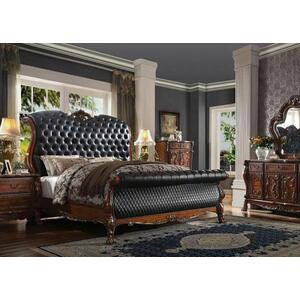 ACME Dresden Eastern King Bed - 28227EK - Traditional, Vintage - PU, Wood (Poplar), MDF, Poly-Resin - PU and Cherry Oak