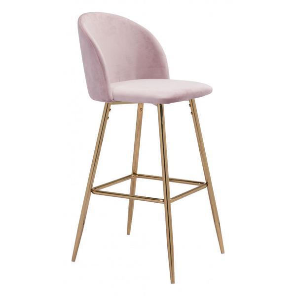 Cozy Bar Chair Pink